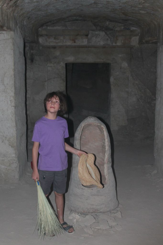 in the scary tomb