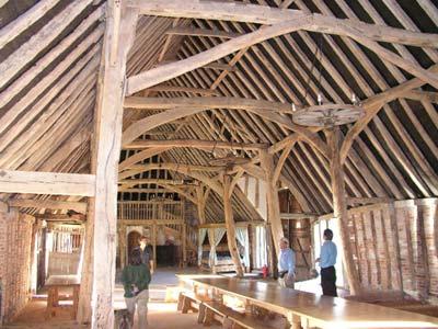 Interior Milden Hall Barn