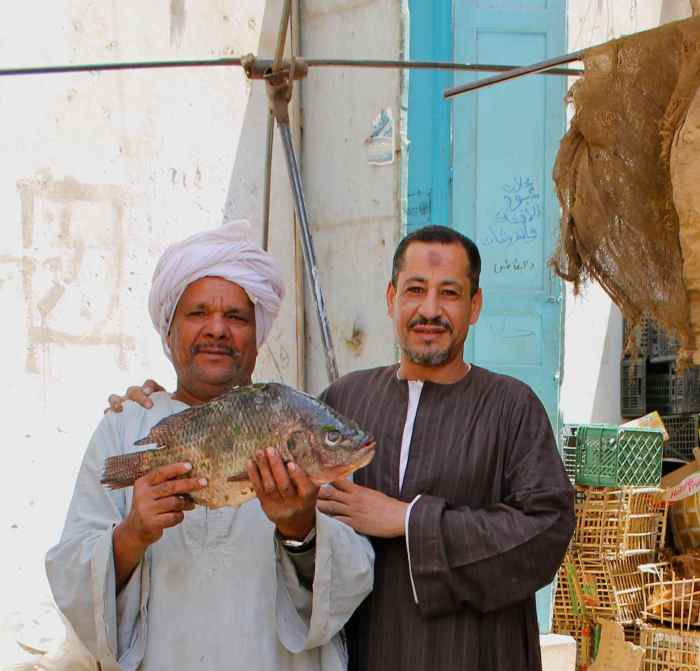 Egyptian men and their Fish
